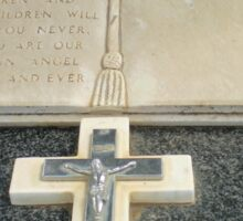Beautiful Cross on tombstone - Werribee Cemetery Sticker