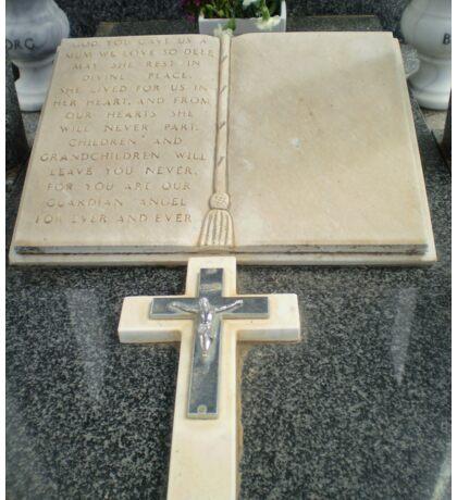 Beautiful Cross on tombstone - Werribee Cemetery Sticker