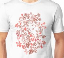 Autumn Girl with Floral 5 Unisex T-Shirt