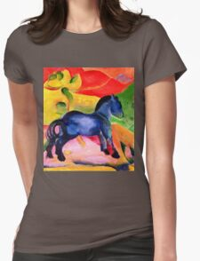 Franz Marc - Little Blue Horse  Womens Fitted T-Shirt