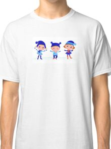 Collection of cute winter children Classic T-Shirt