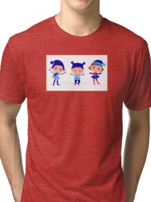 Collection of cute winter children Tri-blend T-Shirt