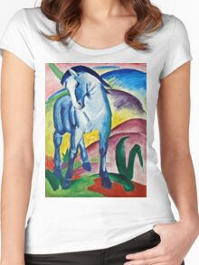 Franz Marc - Blue Horse I (1911)  Women's Fitted Scoop T-Shirt
