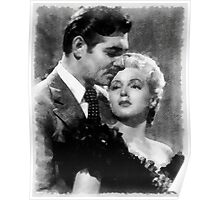 Clark Gable and Lana Turner Hollywood Legends Poster