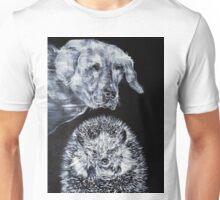 LABRADOR AND HEDGEHOG Unisex T-Shirt