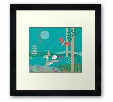 Foxy Flower Framed Print