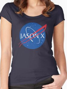 Jason goes to space Women's Fitted Scoop T-Shirt