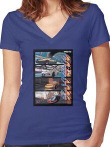 Sega Scudrace Women's Fitted V-Neck T-Shirt