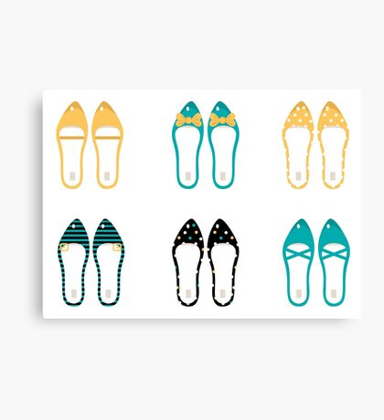 Cute Shoes collection. Vector Illustration Canvas Print