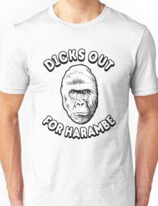 Dicks Out For Harambe T-Shirt Unisex T-Shirt