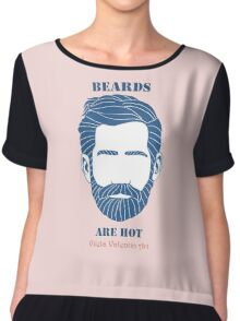 Beards are Hot Chiffon Top