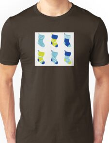Cute Christmas Socks set - vector cartoon Illustration Unisex T-Shirt