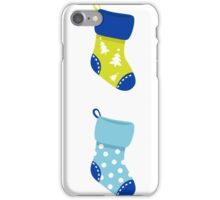 Cute Christmas Socks set - vector cartoon Illustration iPhone Case/Skin