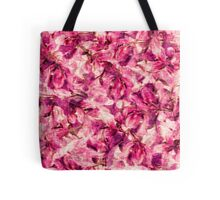 Rose flowers and petals vintage pattern  Tote Bag