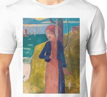 1889 - Gauguin - Breton girl spinning Unisex T-Shirt