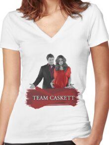 Team Caskett Women's Fitted V-Neck T-Shirt