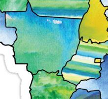 Watercolor Countries - Brazil Sticker