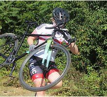 Running Bike by Woman  Photographic Print
