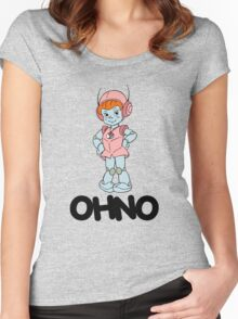 Mighty Orbts - OHNO - Black Font Women's Fitted Scoop T-Shirt