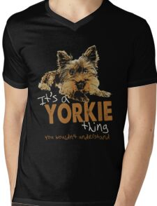 Yorkie - It's A Yorkie Thing You Wouldn't Understand T-shirts Mens V-Neck T-Shirt