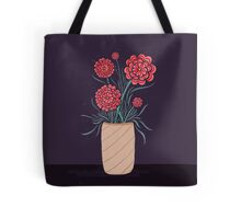 Red Carnation Flower Bouquet Tote Bag