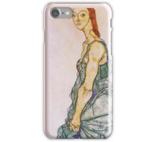 Egon Schiele - Upright Standing Woman 1912 iPhone Case/Skin