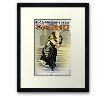 Performing Arts Posters Olga Nethersoles version of Sapho by Clyde Fitch 2879 Framed Print