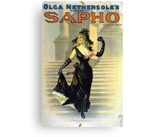 Performing Arts Posters Olga Nethersoles version of Sapho by Clyde Fitch 2879 Canvas Print