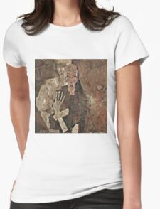 Egon Schiele - Self Seer II (Death and Man) (1911)  Womens Fitted T-Shirt