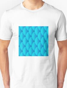 Mermaid scales, 3d effect fun bold animal print design in turquoise and blue, classic statement fashion clothing, soft furnishings and home decor  Unisex T-Shirt