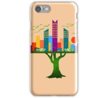 COLORFUL TREE CITY ARCHITECTURE iPhone Case/Skin