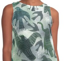 Ancient Green Birds Contrast Tank