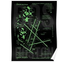 BOS Boston Airport Diagram Poster