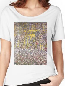 Gustav Klimt - Horticultural Landscape With A Hilltop Women's Relaxed Fit T-Shirt