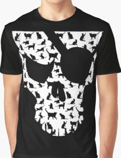 skull and cats  Graphic T-Shirt