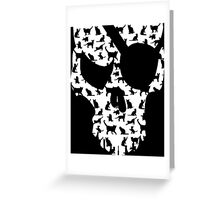 skull and cats  Greeting Card