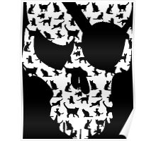 skull and cats  Poster