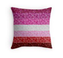 Lipstick Lesbian Pixel Flag Throw Pillow