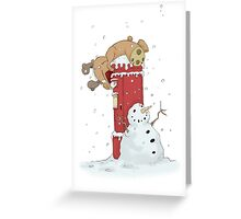 Ruudy posting cards Greeting Card