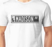 Madison Avenue NYC Pop Art Deco Street Sign Unisex T-Shirt