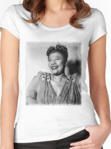 Ella Fitzgerald Singer Women's Fitted Scoop T-Shirt