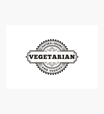 Vegetarian Natural Grains and Veggies Photographic Print