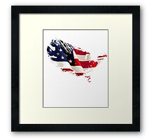 Patriot American Map Flag Framed Print