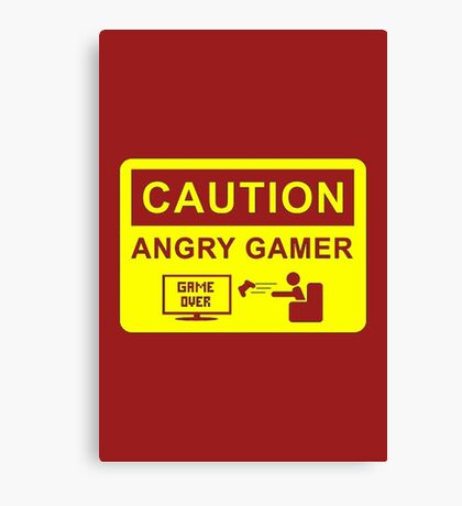 Angry Gamer Canvas Print