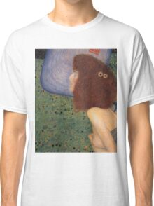 Gustav Klimt - Girl With Blue Veil, 1902 Classic T-Shirt
