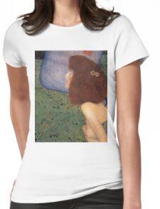 Gustav Klimt - Girl With Blue Veil, 1902 Womens Fitted T-Shirt