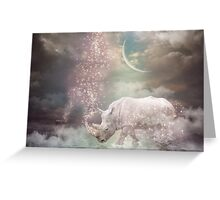 The Most Beautiful Have Known Defeat, Suffering, Struggle... (Rhino Dreams)  Greeting Card