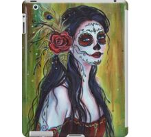 Lila day of the dead art by Renee L Lavoie iPad Case/Skin