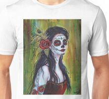 Lila day of the dead art by Renee L Lavoie Unisex T-Shirt