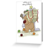 Ruudy with Decorations Greeting Card
